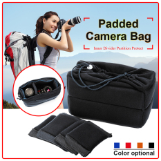 XCSource Insert Padded Camera Bag DSLR Lens Inner Divider Partition Protect Case Pouch Black LF677