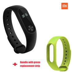 Xiaomi Mi Band 2 Smart Bluetooth Gelang + hijau strip pengganti (Bundel