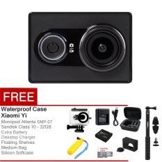 Xiaomi Yi Action Camera - 16 MP - Hitam + All Package