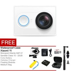 Xiaomi Yi Action Camera - 16 MP - Putih + Floating Shelves + Full Package