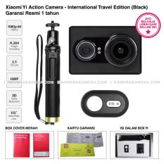 Xiaomi Yi Action Camera - International Travel Edition Black - Camera, Bluetooth Shutter, Monopod Original - Garansi Resmi 1 tahun