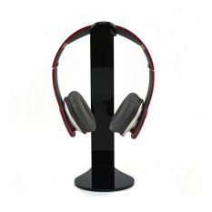 YBC L-shape Design Headset Acrylic Stand Holder For Headset (Black)