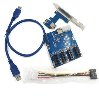 USB 3.0 PCI-E Express 1 x untuk 16 x Extender kabel adaptor Grafis.