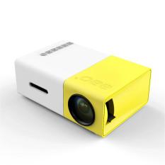 YG300 LCD Portabel Mini 1080P LED Rumah Sinema Proyektor Teater USB SD HDMI Kami Steker- intl