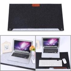 YOSOO New Felts Desk Laptop Mat Table Pad Dark Gray - intl