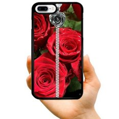 Young Fashion Hot Sale Big Red Rose And Black Rose Necklace Pattern Phone Case For Samsung Galaxy J7 2016 / J710(Multicolor) - intl
