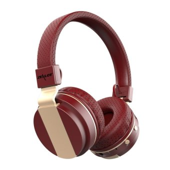 Zealot B17 Good Quality Bluetooth HiFi Headset Stereo FM Radio Wireless Bluetooth Headphone High Fidelity Blutooth Headphone For Iphone Pc (Red)
