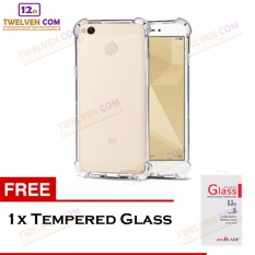 Zenblade Anti Shock Anti Crack Softcase Casing for Xiaomi Redmi 4x + Free Tempered Glass