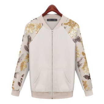 2015 Autumn Fashion Baseball Jackets Women Jaqueta Feminina Sequins