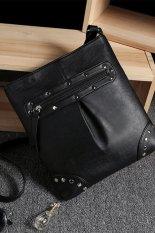 2015 Fashion Punk Rivet Shoulder Bag High Quality Women Rivet Leather Bag Designer Vintage Casual Small Bag Ladies Crossbody Bag (Intl)