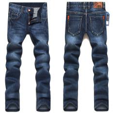 2015 New Newly Style Famous Brand Men's Jeans, Denim, Cotton Jeans Pants, Blue Straight Jeans Blue (Intl)
