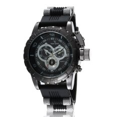 201.3D Surface 24 Hours Function Men's Sport Watch Silicone Wrist Watch Army Military Watch
