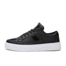 2016 Classic Men Casual Shoes White Pu Leather High Top Men Casual Shoes Breathable Lace-up Outdoor Shoes