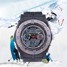 2016 High Quality SANDA Men S' Fashion Outdoor Sports Waterproof Electronic Watch (Blue)