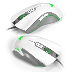 2016 High Quality TTLIFE 4800 DPI Wired Gaming Mouse Mice 7 Buttons Design 6 Breathing LED Colors Changing High Precision (White)