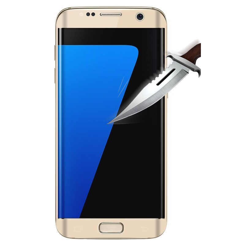 2016 New 3D Full Cover Curved Tempered Glass Screen Protector For Samsung Galaxy S7 Edge G935F/9350(Gold) (Intl)