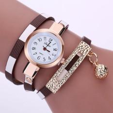 2016 New Fashion Women Watch PU Leather Bracelet Watch Casual Women Wristwatch Luxury Brand Quartz Watch Relogio Feminino Gift (Brown)