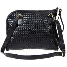 2016 New Men Weaving Bags Fashion Handbags Messenger Hobo Bag