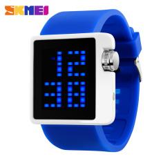 2016 Skmei Brand Fashion LED Digital Watch For Men Women Sports Watches Casual Dress Ladies Wristwatches (Blue)