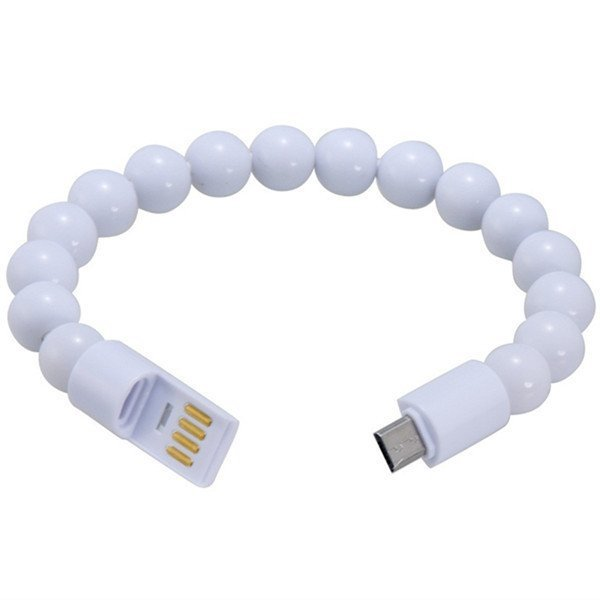 23cm Creative Buddha Bead Bracelet Design Micro USB Charging Data Cable (Intl)