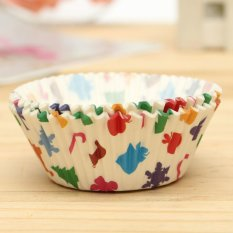 25pcs Xmas Colorful Paper Cake Cupcake Liner Case Wrapper Muffin Baking Cup #01