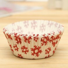 25pcs Xmas Colorful Paper Cake Cupcake Liner Case Wrapper Muffin Baking Cup #20 - Intl