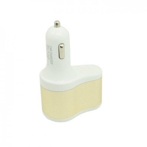 3-in-1 Dual USB 5V 1.5A & 12V Output Car Cigarette Lighter Charger input 12~24V White Color (Intl)