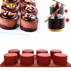 1 Pc 8 Holes Round Shape Silicone Cake Mold 3D Handmade Cupcake Jelly Pudding Cookie Mini Muffin Soap Mold DIY Baking Tools