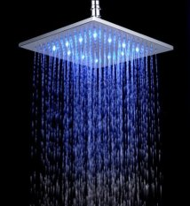 10 inches brushed nickel LED shower head