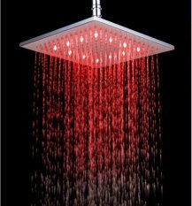 10 inches chrome LED shower head
