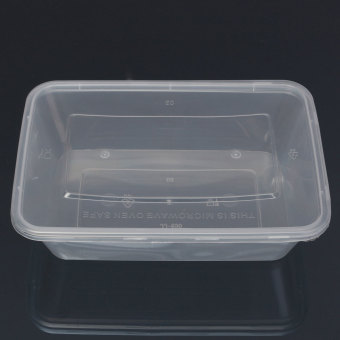 10X Plastic Containers Tubs Clear With Lids Microwave Food Safe Takeaway Box 750ml - Intl
