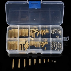 120Pcs M2mm Male Female Brass PCB Spacer Standoff Screw Nut Assortment Threaded - intl