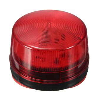 12V Security Alarm Strobe Signal Warn Warning LED Lamp Flashing Light Red