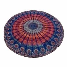 150cm Bohemian Style Mandala Round Bed Towel Thin Chiffon Beach Yoga Sheet Tapestry Yellow Orange And Blue - Intl