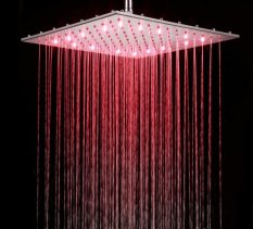 16 inches chrome LED shower head