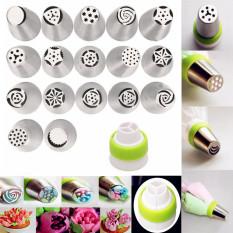17 Buah Bunga Tulip Rusia Lapisan Pipa Nozel Alat Membuat Kue Tips Kue Dekorasi
