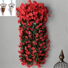 2 Bunches Artificial Violet Bracket-plant Set Hanging Garland Vine Flower Trailing Set with Blanket - intl