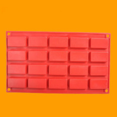 20 Holes Silicone Cake Mold DIY Chocolate Mould Ice Tray (Red) (Intl)