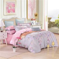 201.100% Cotton Bedding Sets Queen Size Bedclothes Luxuries Duvet / Quilt Cover Set Purplecolor