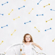 2016 New Cute Arrows Wall Sticker DIY Home Decor Bedroom Decoration PVC Wall Decal -White