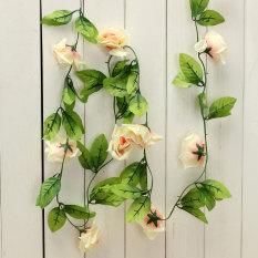 24 M Plastik Kain Sutra Mawar Bunga Ivy Tanaman Merambat Gantung ... cd45027a16