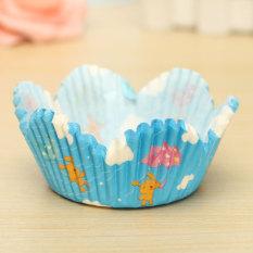 25pcs Cake Liner Muffin Dessert Baking High Temperature Greaseproof Petal Baking Cups #02 - Intl