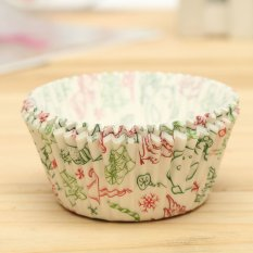 25pcs Xmas Colorful Paper Cake Cupcake Liner Case Wrapper Muffin Baking Cup #27 - Intl