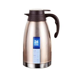 2L-Brown-Stainless Steel Vacuum Thermo Jug Double Wall Insulated Pot, Thermos Carafe - Intl