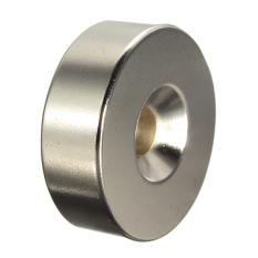 30 x 10 mm besar 6 mm lubang cincin lingkaran Countersunk piringan magnet tanah jarang Neodymium