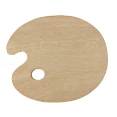 30 X 40cm Wooden Oval Art Paint Color Mixing Tray Palette With Thumb Hole