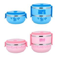 304 Stainless Steel Cartoon Bento Lunch Box Kitchen Storage (1 Layers) - Pink - Intl