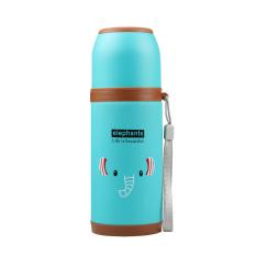 350ml Cartoon Stainless Steel Vacuum Flasks Thermos Cup-Elephants (Blue) (Intl)