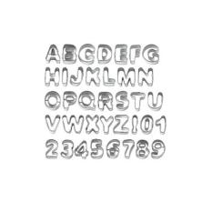 37pcs Metal Alphabet Letters & Number Sugarcraft Fondant Cake Decorating Cutters Cookie Biscuit Mould Molds Set
