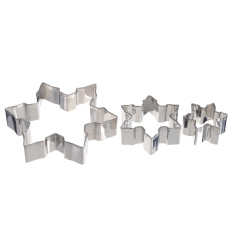 3pcs Metal Snowflake Biscuit Cookie Cutter Fondant Cake Mould